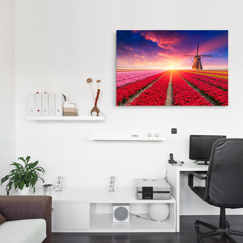 Windmills Canvas Wall Art