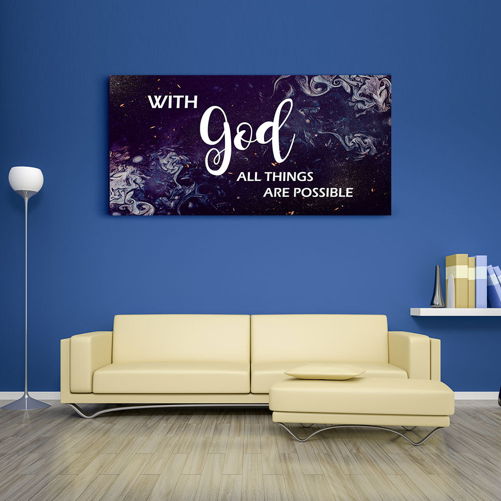 With God All Things Are Possible Canvas Wall Art