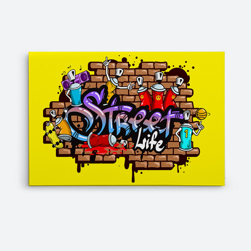 Word Characters Composition Canvas Wall Art