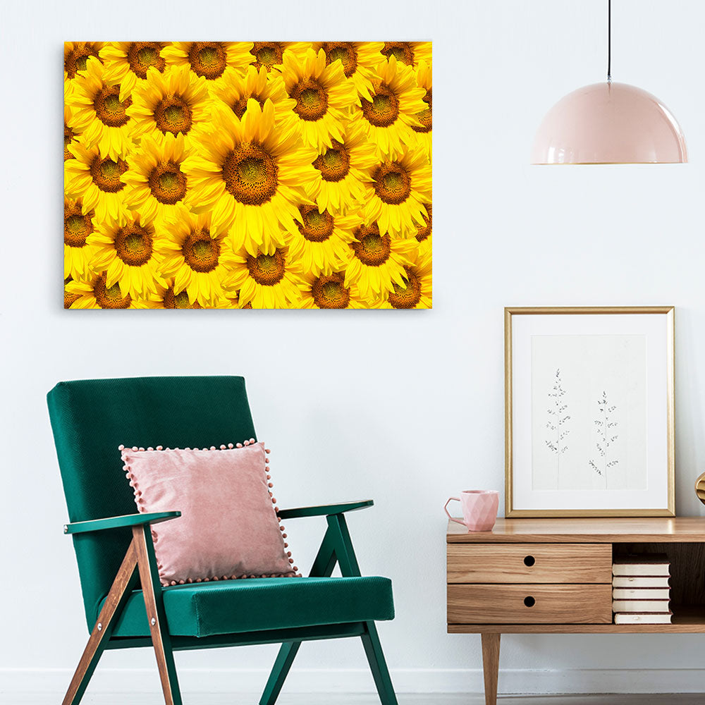 Sunflower Bloom Flower Canvas Wall Art