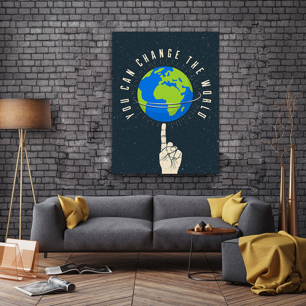 You Can Change The World Canvas Wall Art for your Home or Office. Motivational, inspirational and modern canvas wall art for your Home or Office.