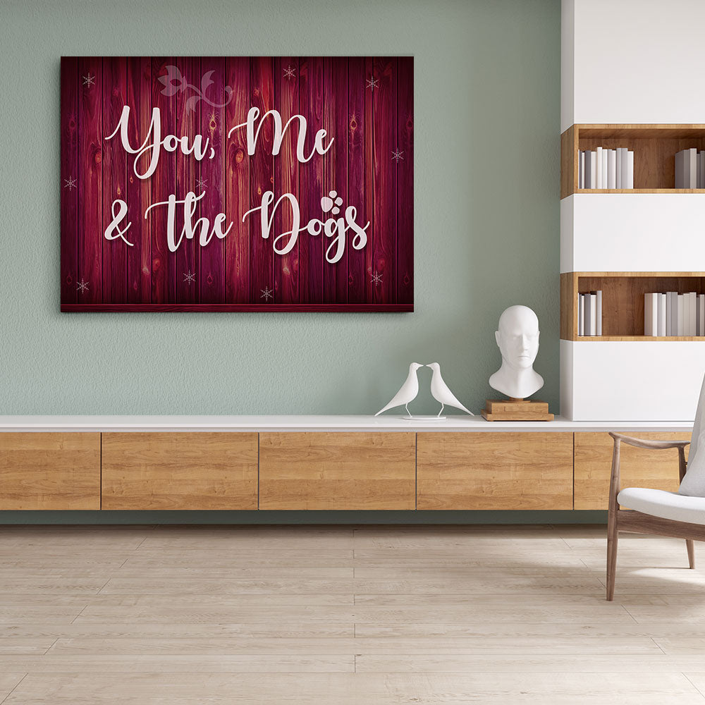 You, Me and Dog Canvas Wall Art