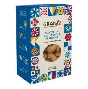 GraniSi - Orange and Manna Biscuits - Ancient Sicilian Grains - 210 gr - 20% DISCOUNT -