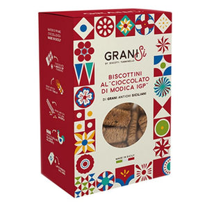 """GraniSi - Biscuits with """"Modica Chocolate IGP"""" - Ancient Sicilian Grains - 210 gr"""