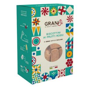 GraniSi - Biscuits with Red Fruits - Ancient Sicilian Grains - 210 gr - 20% DISCOUNT -