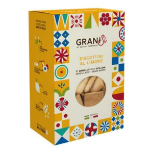 GraniSi - Lemon Biscuits - Ancient Sicilian Grains - Without Milk and Butter - 210 gr - 20% DISCOUNT -