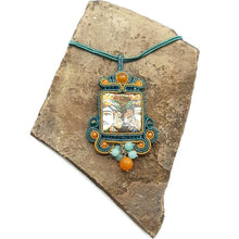"""Upload the image to the Gallery Viewer, Soutache Pendant """"The Moors"""""""
