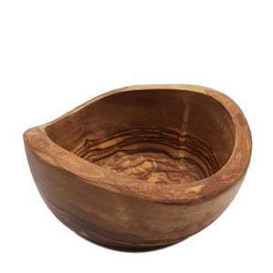 Rustic Round Bowl in Olive Wood