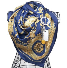 """Upload the image to the Gallery viewer, """"Blue Sicilian Baroque"""" scarf"""
