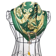 """Upload the image to the Gallery viewer, """"Green Sicilian Baroque"""" scarf"""