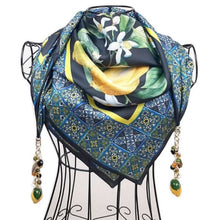 """Upload the image to the Gallery viewer, """"Taormina Nero"""" scarf"""