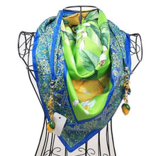 """Upload the image to the Gallery viewer, """"Taormina Verde"""" scarf"""
