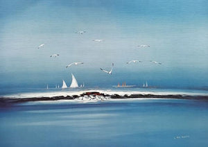 Lithograph with Seagulls - 20% DISCOUNT -
