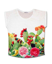 """Upload the image to the Gallery Viewer, Slim """"Prickly Pear"""" T-shirt"""