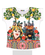 """Upload the image to the Gallery viewer, Poly Slim """"Amore Saraceno"""" T-Shirt"""