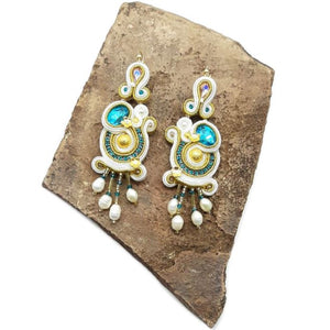 "Soutache ""Pearls"" Earrings"