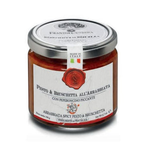 Pesto and Bruschetta all'Arrabbiata with Hot Pepper - 190 gr