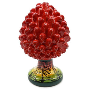 Red Pine Cone with Decorated Foot - 10% DISCOUNT -