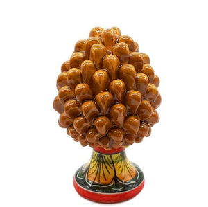 Brown Pine Cone with Decorated Foot