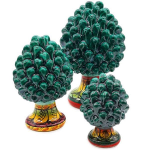 Green Pine Cone with Decorated Foot - 10% DISCOUNT -