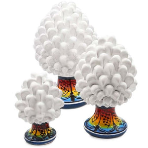 White Pine Cone with Decorated Foot - 10% DISCOUNT -