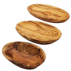 Set of 3 oval bowls in Olive Wood