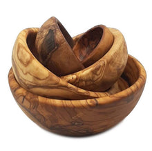 Upload the image to the Gallery Viewer, Set of 6 Olive Wood Bowls