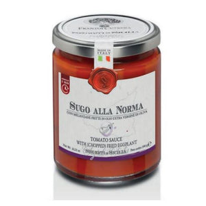Norma sauce with fried eggplant in extra virgin olive oil - 290 gr