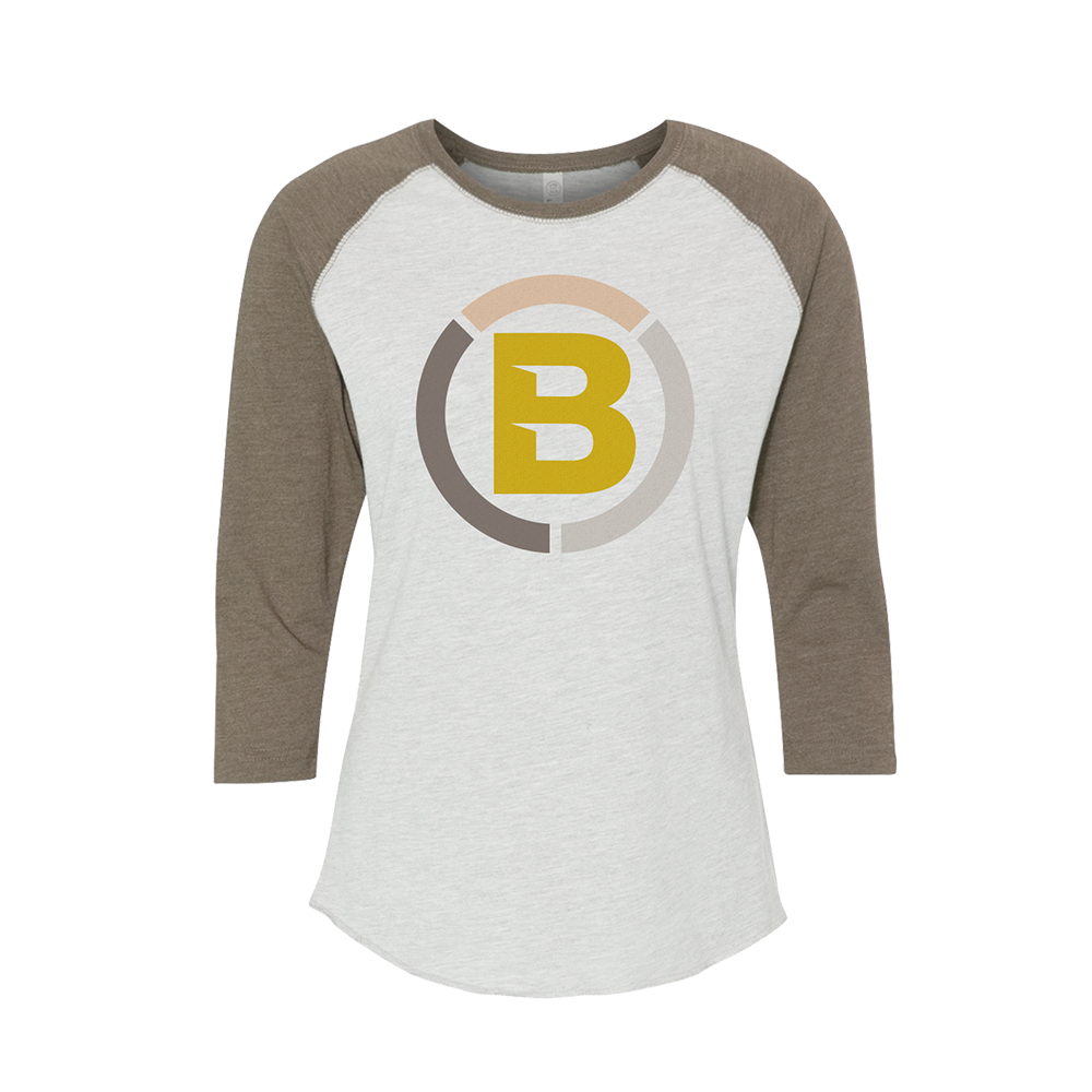 Blonyx Series 11 Baseball T - SAND/ Heather White
