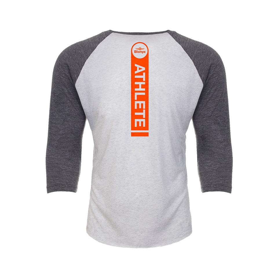 Blonyx S10 Baseball T - Heather Grey/ Heather White