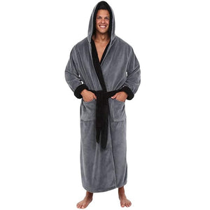 Bathrobe Men's Winter Lengthened Plush Shawl