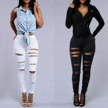Load image into Gallery viewer, Women's Casual Pant Elastic High Waist Denim