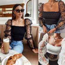 Load image into Gallery viewer, Women Square Collar Blouse 2020 New Arrival