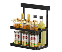 Load image into Gallery viewer, Black Stainless Steel Wall Kitchen Storage Rack