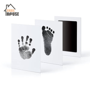 Newborn Baby Handprint Footprint Photo Frame Souvenir Girl Boy Infant Decoration