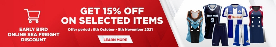 15% Early Bird Online Sea Freight Discount