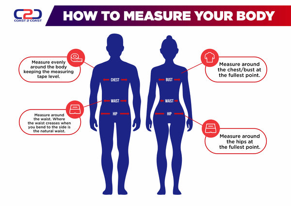 How to measure your body to find your size
