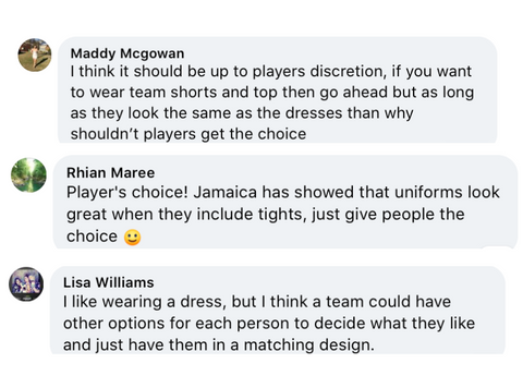 Poll Comments- Yes Votes- Ditch the Dress