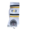 C2C Crew Socks White/Black/Gold