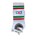 C2C Crew Socks White/Bottle Green/Red