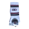 C2C Crew Socks White/Maroon/Navy