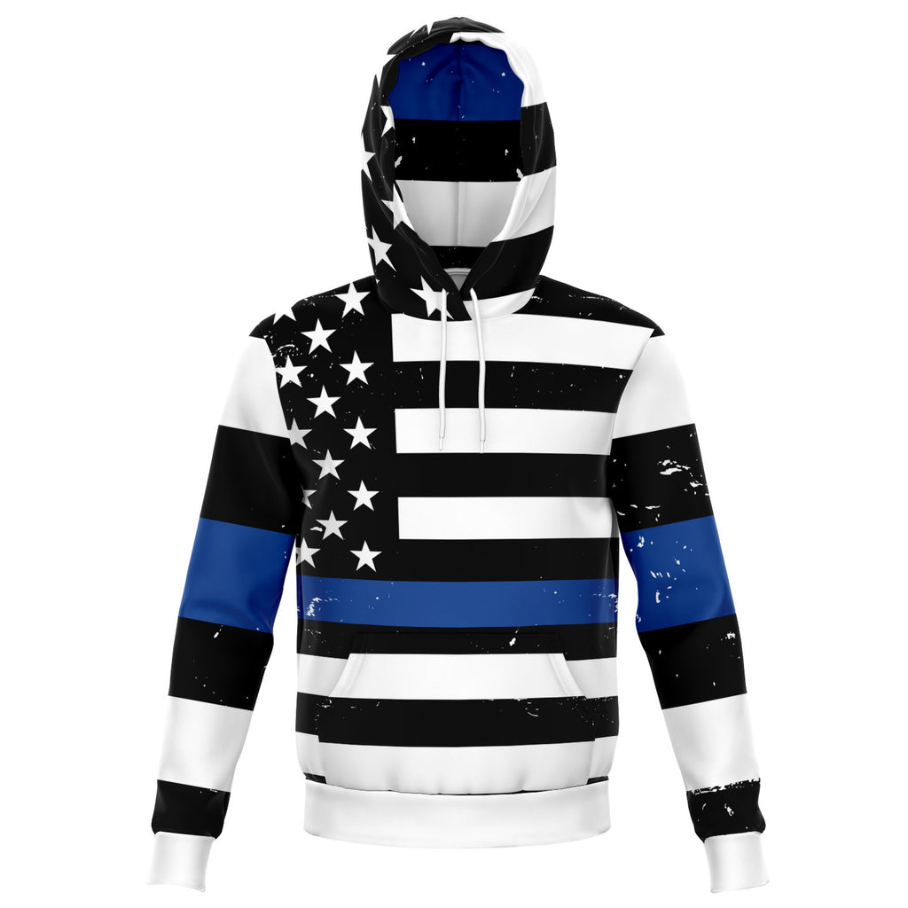 The All Over Blue Thin Line Hoodie ™️ 🚔