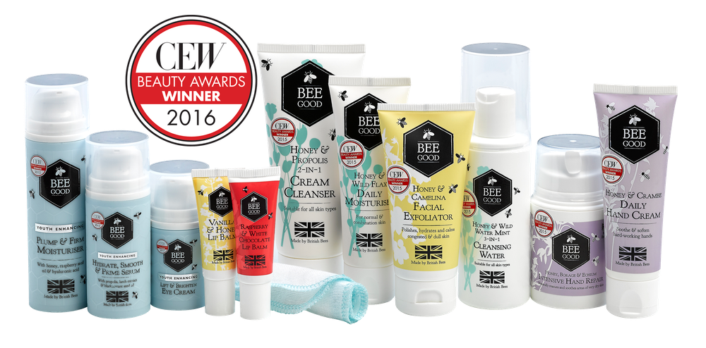 The full Bee Good range of skincare