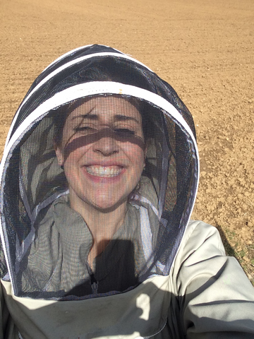 Lara - Busy in her bee suit!