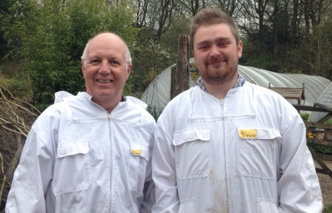 Bee Good's apprentice Bee Farmer Seb and his mentor David
