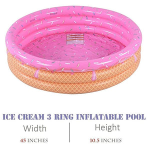 Ice Cream Inflatable Kid's Pool 45in x 10.5in
