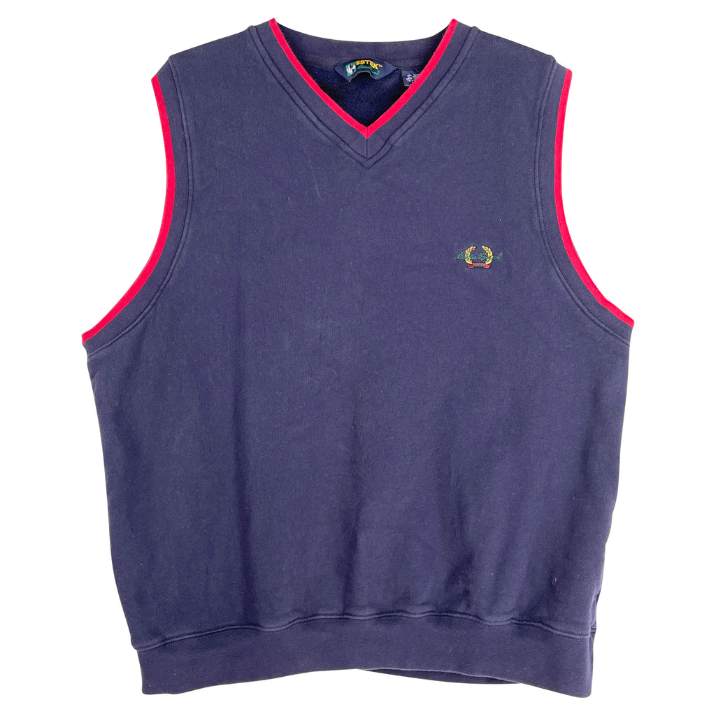 NAVY SWEAT VEST - L