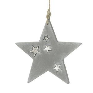 Cement Grey Star Decoration