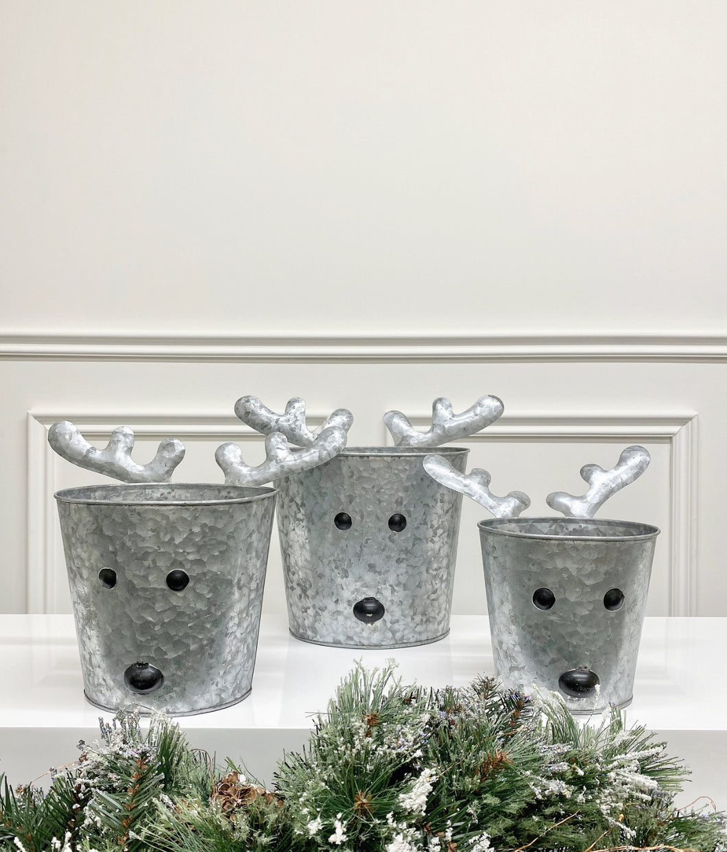 Reindeer Bucket (Available in Three Sizes)