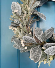 Load image into Gallery viewer, Frosted Eucalyptus Wreath